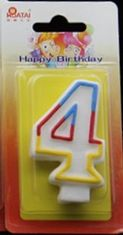 7.5*4.5*1.4cm Number Birthday Candles