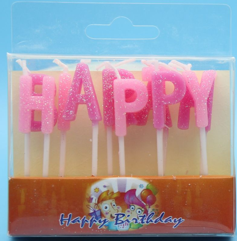 Glitter Alphabet Letter Birthday Candles Non Toxic For Cake Decorative Pure Color