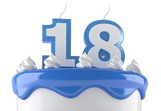 !Handmade Number Candle!Birthday Number Candle with Blue Edge and White  Number