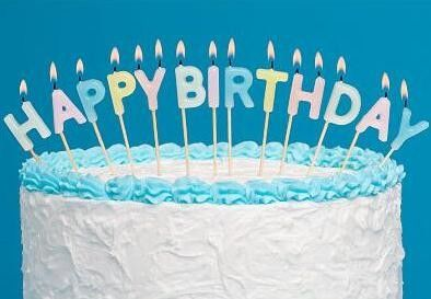 Light Pure Color Happy Birthday Letter Candles 13 Pcs , Alphabet Candles For Cakes
